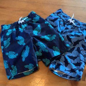 2 Bathing Suits for boys Joe Fresh Size 6